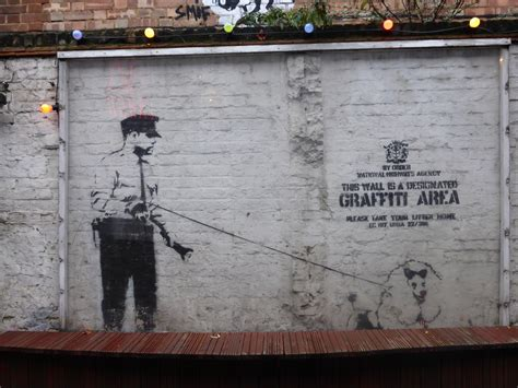 Dog Wall Murals where to see banksy street art in london london calling blog
