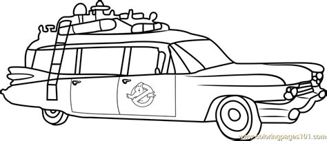 ghostbusters car coloring pages ghostbusters van coloring page free ghostbusters