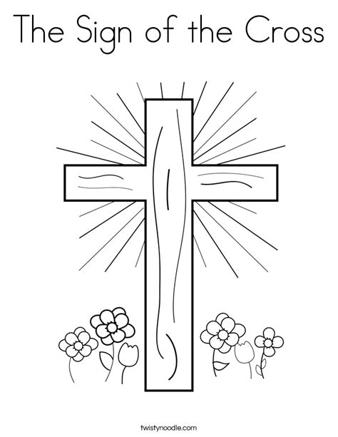 The Sign Of The Cross Coloring Page Twisty Noodle Coloring Pages Of The Cross