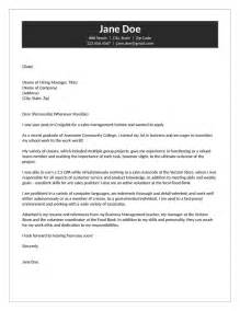 management trainee cover letter management trainee cover letter sles choice image