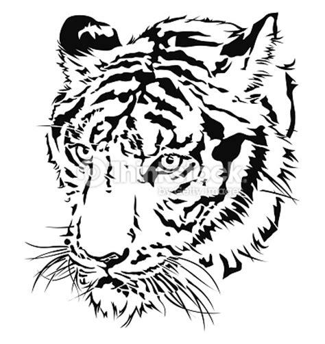 tiger head silhouette vector art thinkstock