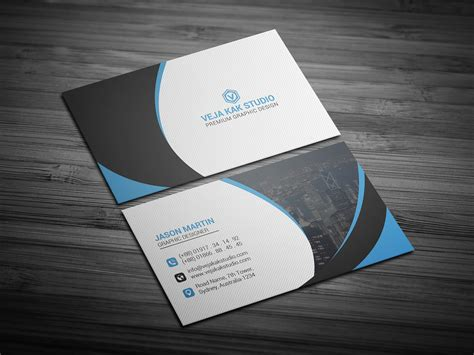 behance business card template corporate business card freebie on behance