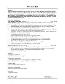 residential property manager resume samples resume