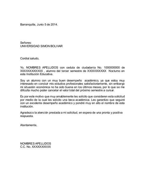 carta de solicitudde beca carta de solicitud beca universidad