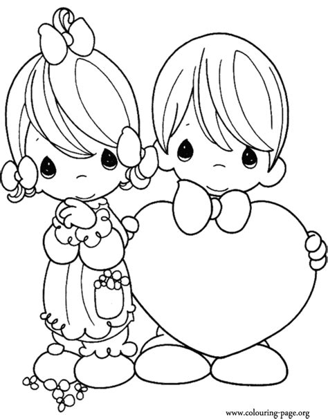 precious moments valentines day coloring page az