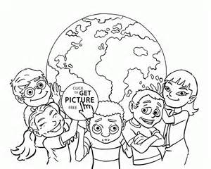 children earth coloring kids