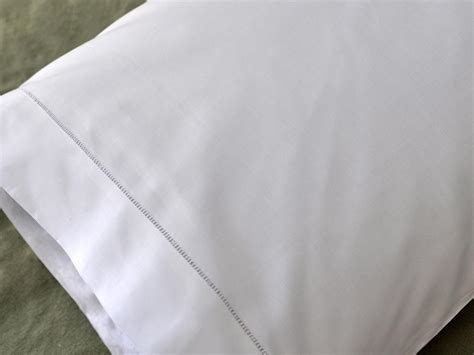 White Cotton Pillow Cases by Pair Of White Cotton Hemstitched Edge Pillowcases