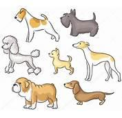 Conjunto De Perros Dibujos Animados — Vector Stock