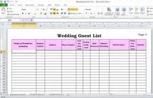 Wedding Guest List Spreadsheet Template Pics Photos Printable Wedding Guest List Spreadsheet