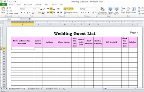 Wedding Planning Excel Spreadsheet by 5 Ways To Plan Your Weddingivy Wedding Invitations