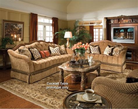 Gold Sofa Living Room by Aico Furniture Villa Valencia Sofa And Loveseat Set In