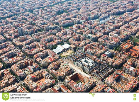 barcelona aerial view aerial view of barcelona stock image image of aerial