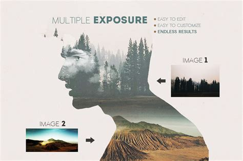 double exposure photoshop tutorial italiano what s hot bundle vol 1 add ons effects dealjumbo