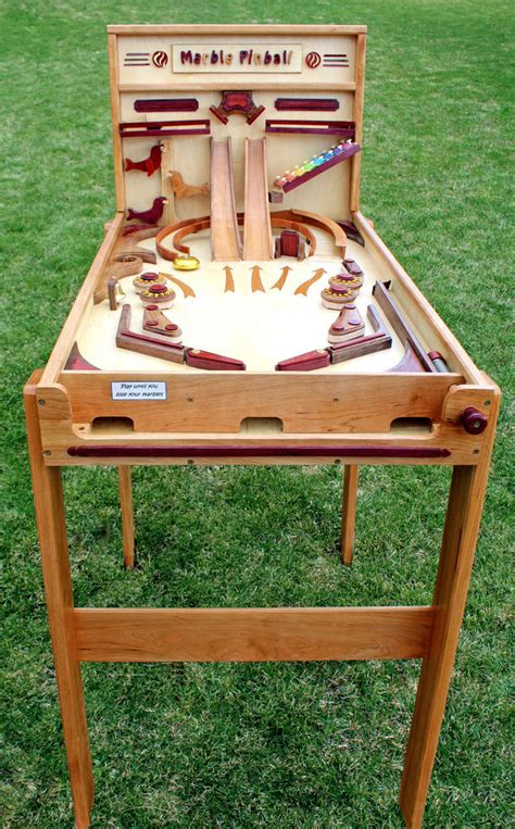 woodworking plan for building a wood marble pinball game like marble drops run ebay