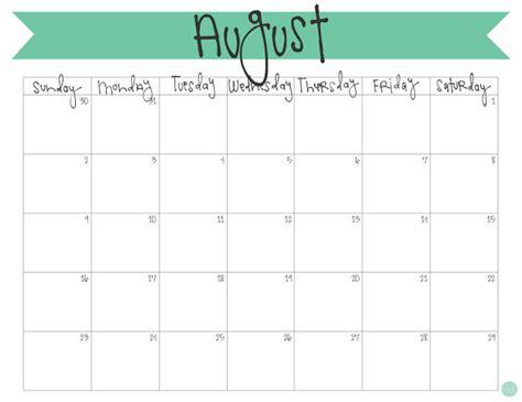 Calendar 2015 August Pdf Get Printable Calendar August 2016 Printable Calendar