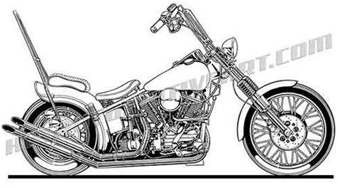 Motorrad Chopper Arten by Chopper Clipart Harley Davidson Pencil And In Color