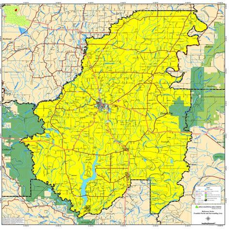 louisiana map gis franklin parish map