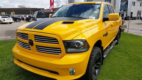 pimped out dodge ram 1500 2016 ram 1500 stinger yellow crew cab