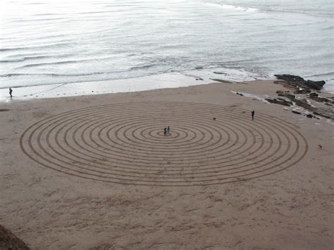 Sand L by Sand Circles At Orcombe Point And Bay Exmouth Uk On 16th November 2013