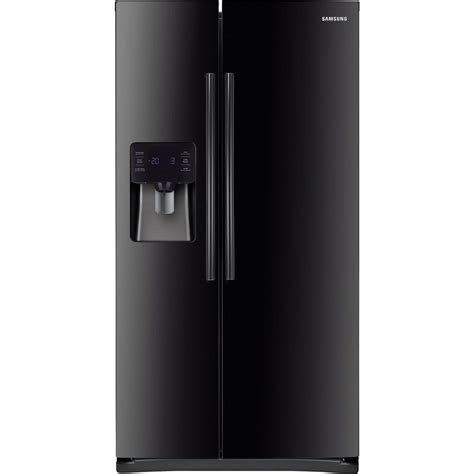 samsung 24 5 cu ft side by side refrigerator in black