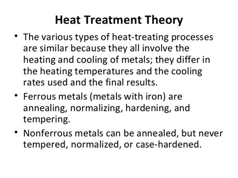 various heat treatment processes heat treatment process for steel
