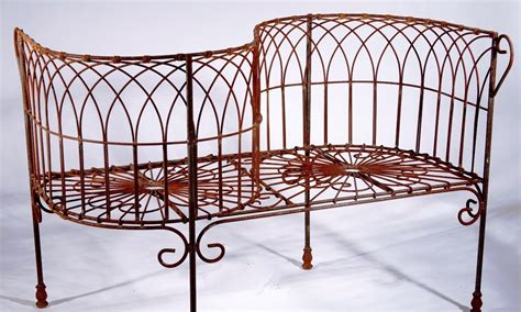 courting bench wrought iron antique french courting bench metal seating