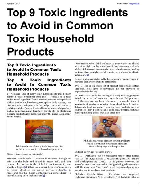 toxic household chemicals top 9 toxic ingredients to avoid in common toxic household