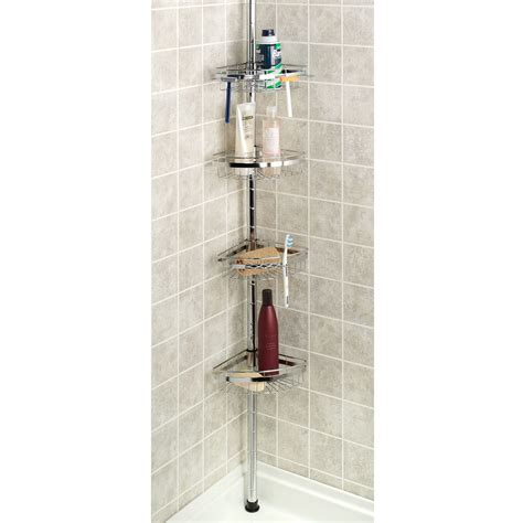 Bathroom Caddies Shower Convenient Tension Shower Caddy Design Trends4us