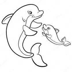 Stock Illustration Coloring Pages Marine Wild Animals sketch template