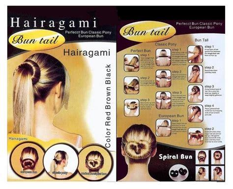 hairagami styles hairagami hair bun fold wrap snap styling tools set of 2