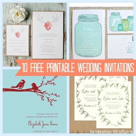 free diy wedding invitation templates wedding and bridal