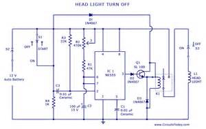 Car Lighting Wiring Diagram Automatic Car Vehicle Lights Turn Circuit