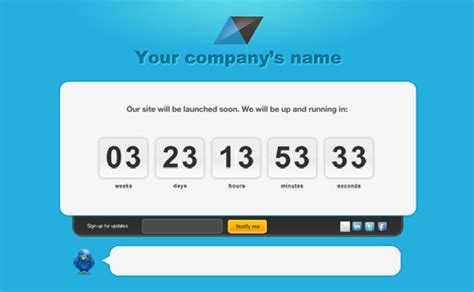 Launching Soon Template Free by Besplatni Photoshop Web Templejti