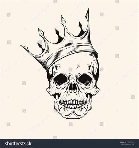 skull with crown tattoo crown skull pencil and in color crown skull