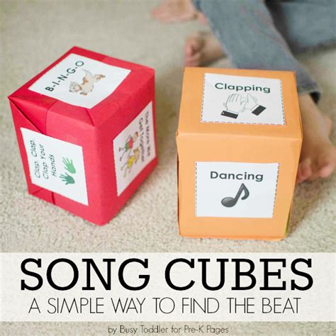 song pre k with song cubes and finding the beat pre k pages