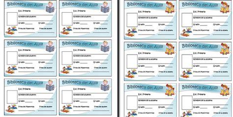 credenciales escolares formato credenciales de biblioteca del aula para imprimir