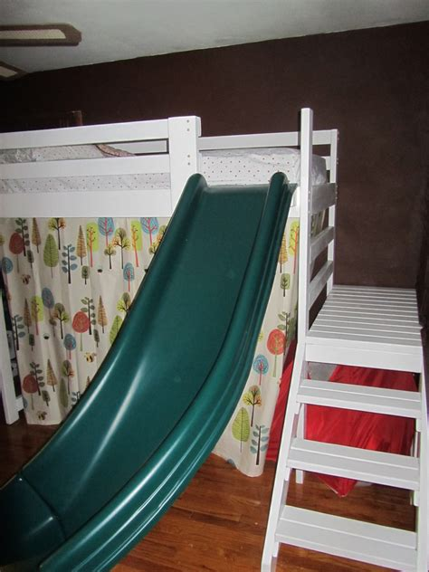 ana white camp loft bed  stairs   fort
