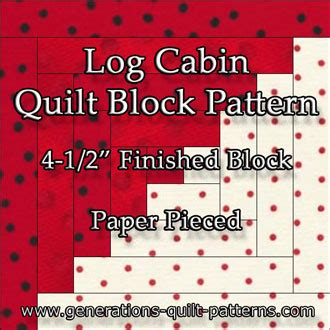 How To Make A Log Cabin Quilt Block by Easy Log Cabin Quilt Pattern Paper Pieced To Perfection