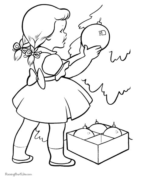 coloring page of a christmas tree with decorations the christmas decorations coloring pages