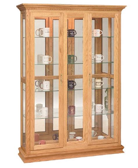 Curio Cabinet Accessories Double Door Picture Frame Deluxe Curio Amish Direct