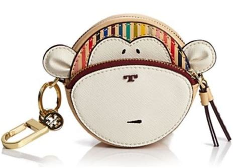 Fossil Monkey Bag Charm nwot burch monkey leather key fob keychain coin purse handbag charm last 1 leather key
