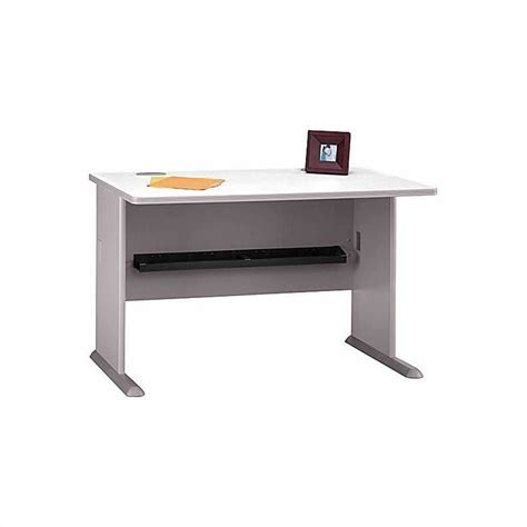 bush business a series left corner desk in white spectrum