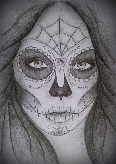 Day Of The Dead Drawings Easy by Day Of The Dead By Iloveink666 On Deviantart