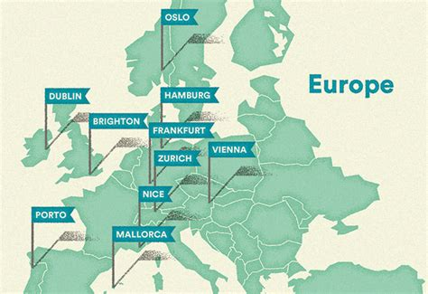 world map cities visited europe s most hospitable cities