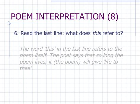 six line sonnet section 18 analysis of a poem