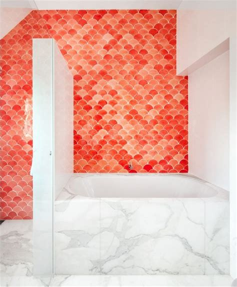 fish tiles bathroom 21 awesome designs of fish scale tile messagenote