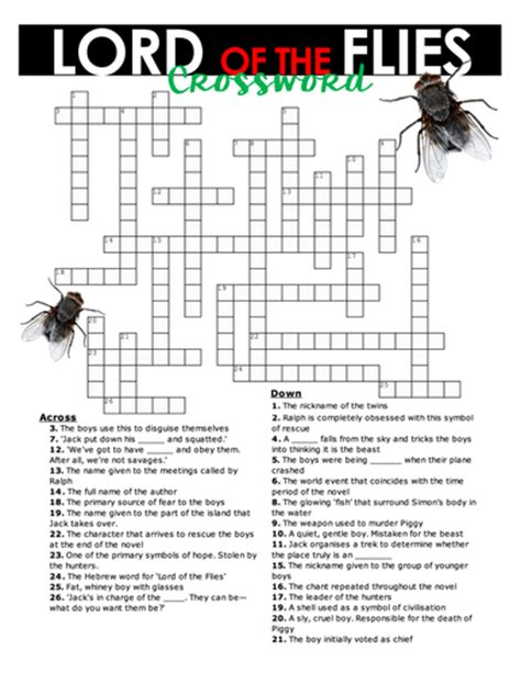 themes in lord of the flies pdf lord of the flies crossword 26 clues to test