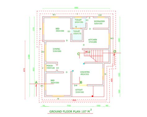 indian modern house autocad plans studio design