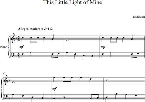 this little light of mine sheet music free download this little light of mine piano sheet music