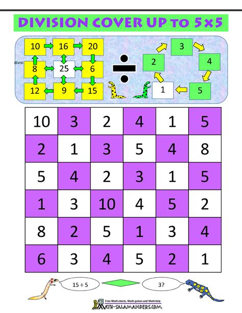 printable division games for 4th grade math division games
